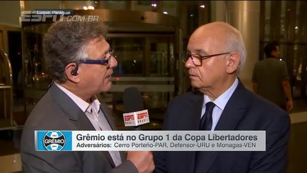 Romildo Bolzan analisa grupo do Grêmio na Libertadores e fala sobre assédio a jogadores