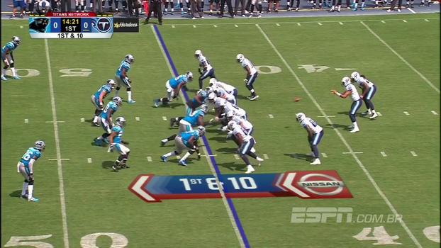 McCaffrey marca, Mariota vai bem, e Titans batem Panthers na pré-temporada da NFL