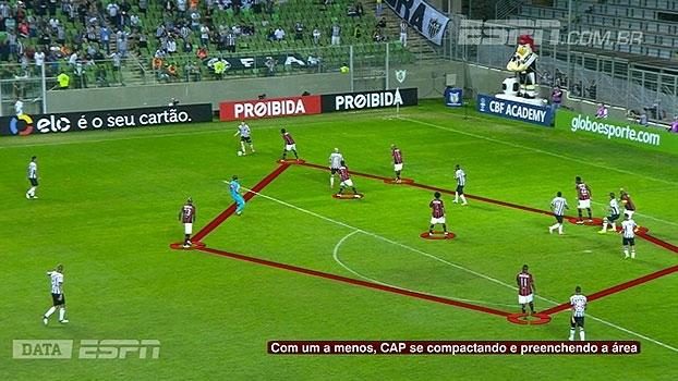 Tironi e DataESPN mostram como o Atlético-PR neutralizou o Galo com um jogador a menos