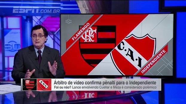Antero analisa Fla x Independiente e opina sobre pênalti: 'Vi diversas vezes e ainda não me convenci'