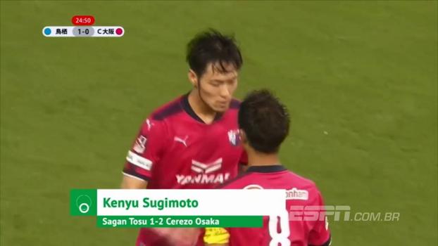 Japonês aplica lindo drible no zagueiro, chuta no ângulo e marca golaço na vitória do Cerezo Osaka; veja o lance