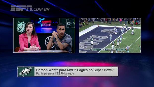 Paula Ivoglo acredita que Carson Wentz pode ser MVP pela consistência na temporada