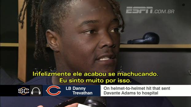 Após pancada que resultou em adversário indo para o hospital, jogador dos Bears se desculpa: 'Não foi intencional'