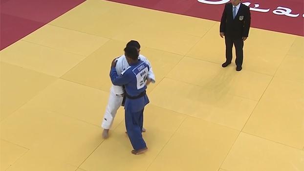 Luciano Correa perde para atleta do Azerbaijão e fica com a prata no Grand Prix de judô de Abu Dhabi