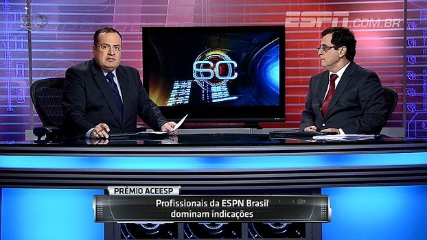 Profissionais da ESPN Brasil dominam indicações para o Prêmio ACEESP; veja
