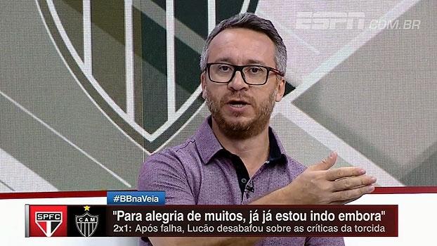 Maurício sugere 'mudança de ares' para Lucão e avalia: 'São Paulo tem time para estar em uma condição melhor'