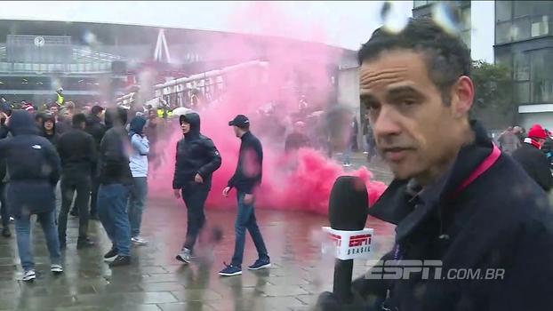 Nos arredores do Emirates, João Castelo-Branco mostra confusão entre torcedores de Arsenal e Tottenham