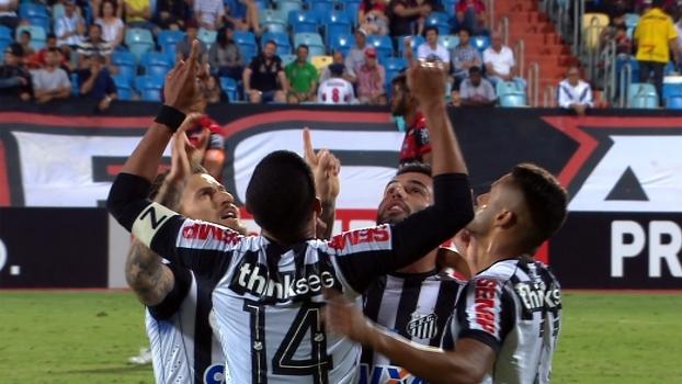 Brasileiro: Gols de Atlético-GO 1 x 1 Santos