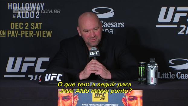 Dana White responde sobre futuro de Aldo no UFC e diz: 'É uma lenda absoluta'