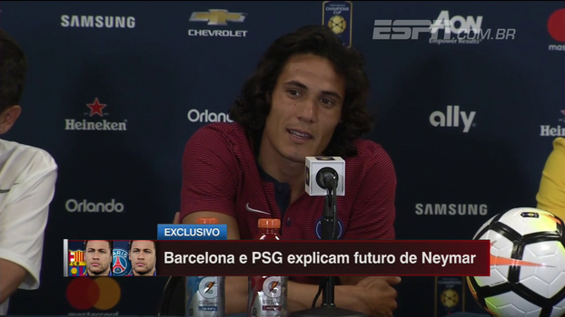 Cavani diz como seria atuar com Neymar no PSG