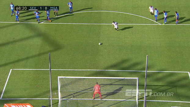 Veja os gols da vitória do Sevilla sobre o Málaga por 2 a 0