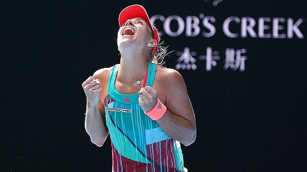 Veja os melhores momentos da vitória de Angelique Kerber sobre Johanna Konta 60827723becd0