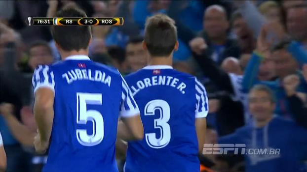 Willian José passa em branco, mas Real Sociedad goleia Rosenborg em estreia