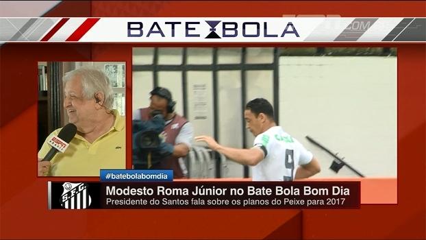 Modesto brinca com interesse do Santos em jogadores do Galo: 'Gostaria muito de contratar o Daniel Nepomuceno'