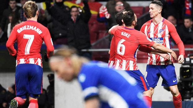 Assista ao gol da vitória do Atlético de Madri sobre o Alavés por 1 a 0!