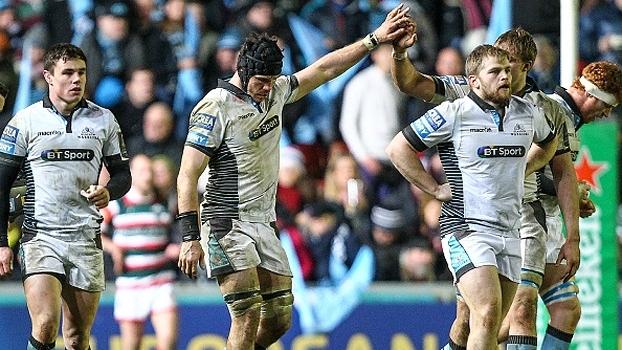 Warriors massacram Leicester e avançam às quartas do Europeu de rugby pela 1ª vez