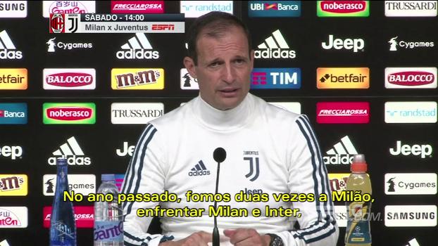 Montella: 'Nenhum time nos dominou nos últimos 5 jogos'; Allegri: 'Vou ficar irritado se não conseguirmos a vitória'