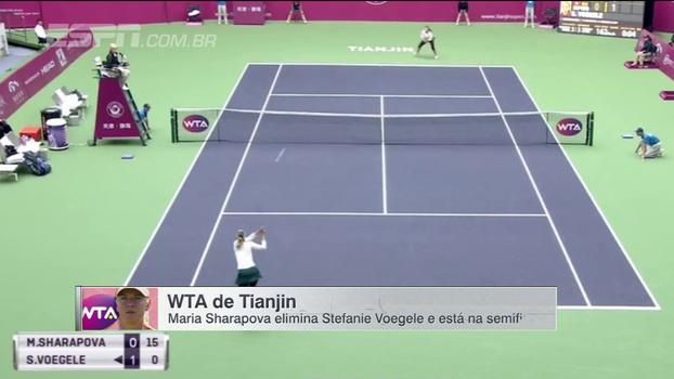 Sharapova vence Voegele em Tianjin e volta à uma semi de WTA após seis meses