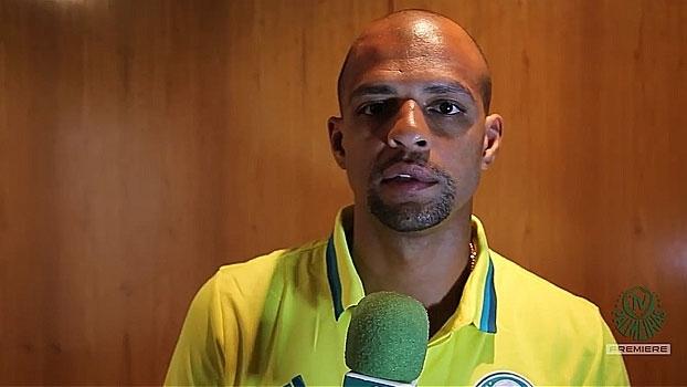 Felipe Melo conhece instalações do Palmeiras e manda recado para torcida: 'A gente se vê no estádio'