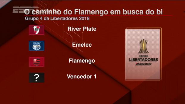 Pelo segundo ano seguido, Flamengo tem grupo difícil na Libertadores