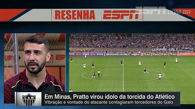 Pratto lembra de passagem no Atlético-MG e fala sobre relação com Fred: 'Um os melhores companheiros que eu tinha'