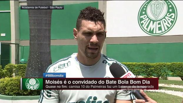 Moisés vê ponto positivo em possível chegada de Lucas Lima: 'Volto para minha posição'