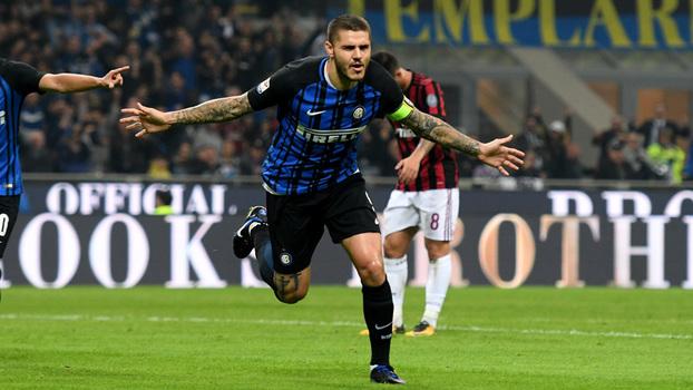 Italiano: Gols de Internazionale 3 x 2 Milan