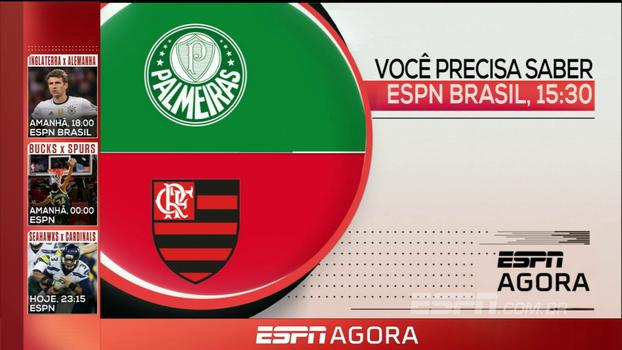 Palmeiras e Flamengo na Copa do Brasil Sub-17, repescagem para a Copa do Mundo, NFL e mais nesta quinta; veja