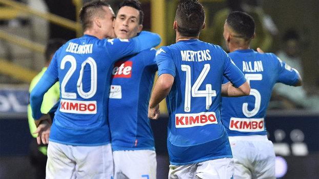 Assista aos gols da vitória do Napoli sobre o Bologna por 3 a 0!