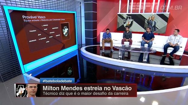 Milton Mendes estreia no Vasco! BB Debate projeta equipe que encara o Madureira