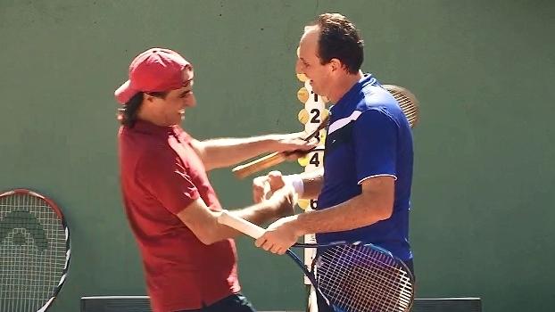 Ceni põe Meligeni para correr em duelo de tênis