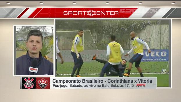 Flávio Ortega dá escalação e conta como foi a manhã de treinos do Corinthians