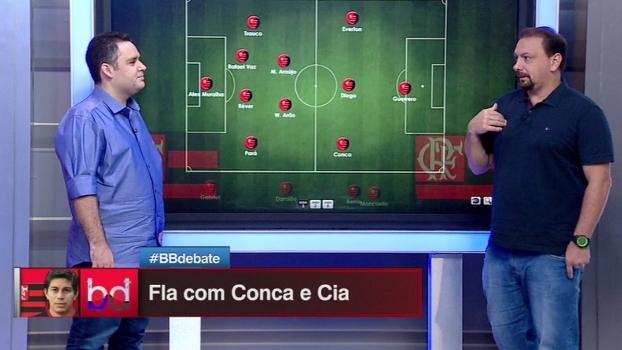 Qual o melhor lugar para Conca no campo? Dupla BB escala o Flamengo