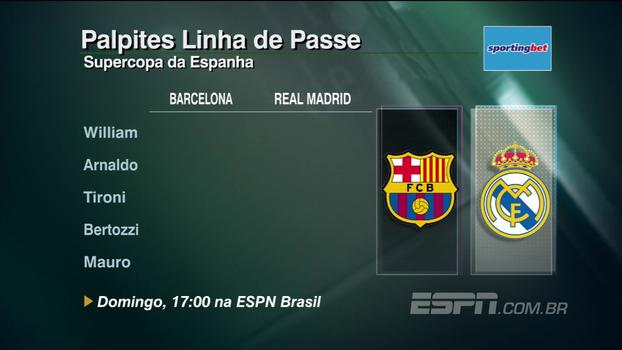 Confira os palpites do 'Linha de Passe' para Barcelona x Real Madrid, pela Supercopa da Espanha