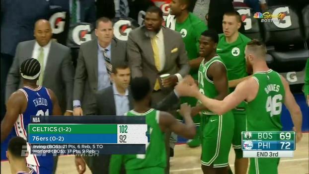 Veja lances de Philadelphia 76ers 92 x 102 Boston Celtics