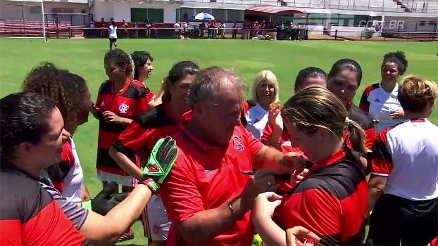 Zico participa de homenagem do Flamengo ao Dia Internacional da Mulher