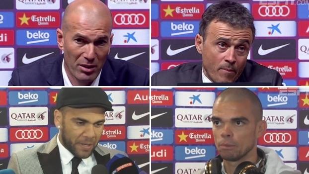 Zidane orgulhoso e Luis Enrique conformado: veja repercussão após 'El Clasico'