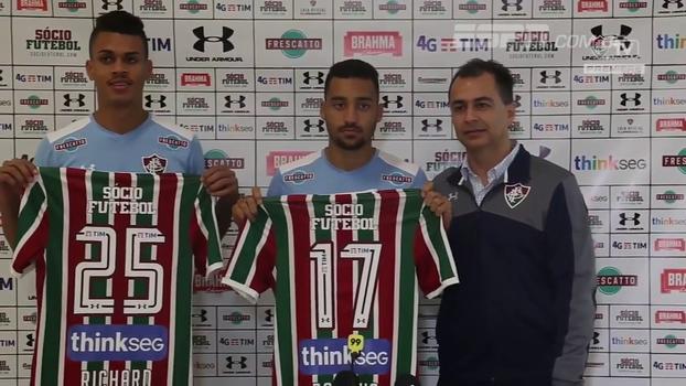Volante e atacante: veja a apresentação dos novos reforços do Fluminense