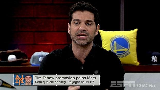 Paulo Antunes comenta momento de Tim Tebow após 'promoção' nos Mets
