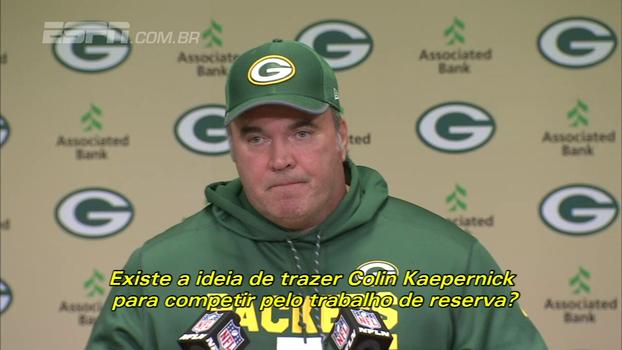 Técnico dos Packers descarta Kaepernick: 'Hundley vai ser o titular, e Callahan será o reserva'