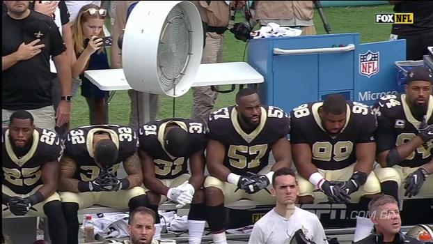 Rodada da NFL foi marcada por protestos no hino nacional; veja