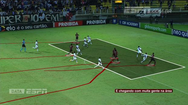 Mais posse de bola, mais finalizações, mas sem resultado: Rafa Oliveira analisa partida do Vasco contra o Atlético-PR