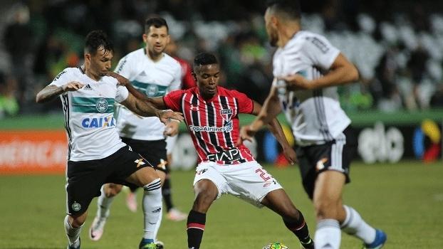 Veja os gols do empate por 1 a 1 entre Coritiba e São Paulo