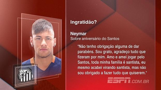 'Não tenho obrigação de dar parabéns', declara Neymar sobre aniversário do Santos