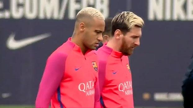 Ao lado de Neymar, Lionel Messi retorna aos treinos no Barcelona