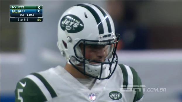 Na pré-temporada, Christian Hackenberg tem decisões ruins e Jets perdem para Lions