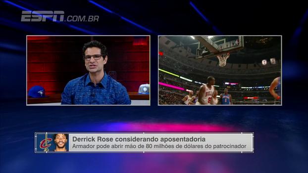 Paulo Antunes lamenta possível aposentadoria de Rose: 'A gente achava que ele poderia competir com LeBron'