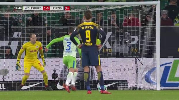 Assista aos gols do empate entre Wolfsburg e RB Leipzig em 1 a 1!