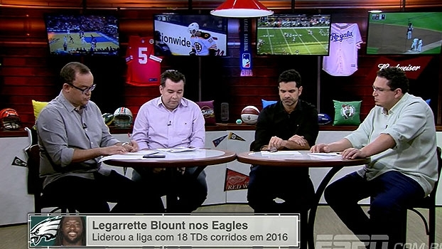 Fitzpatrick no Buccaneers, Blount no Eagles e mais; ESPN League mostra como anda o mercado da NFL