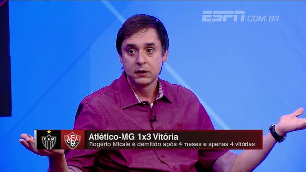 Tironi não vê cultura do futebol brasileiro como culpada por demissão de Micale: 'Desempenho era ruim'